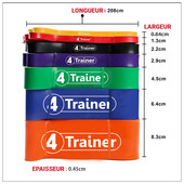 Bandes élastiques Powerband Extra Fort 4Trainer